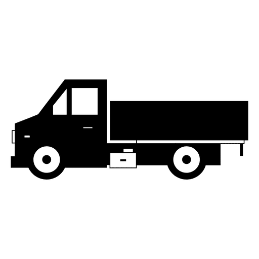 Silhueta de lado preto de caminhão Transparent PNG