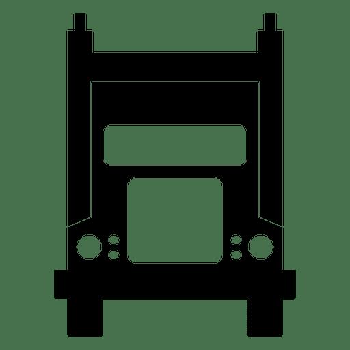 Silhueta de caminhão frontal Transparent PNG
