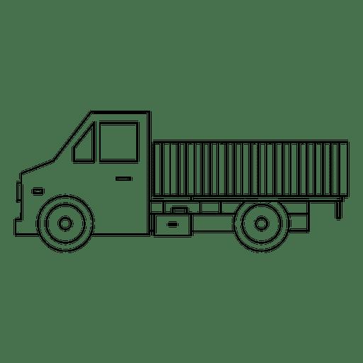 Lado de silueta de camion Transparent PNG