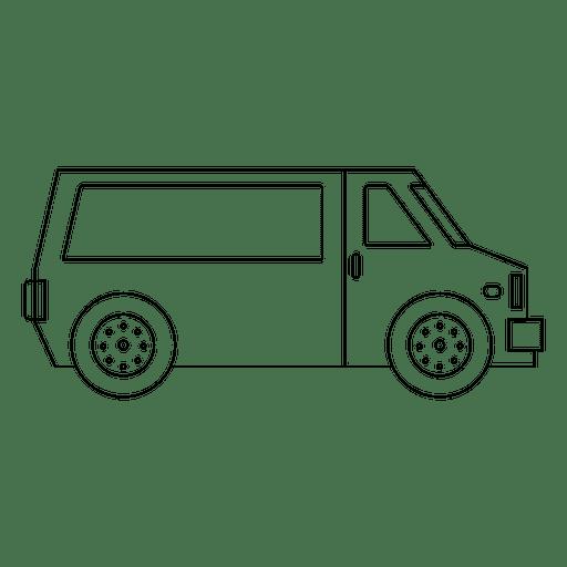 Trazo de silueta de vagón Transparent PNG