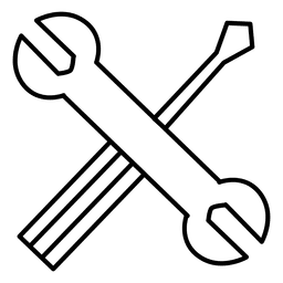 Fix settings fixing tools stroke icon