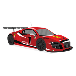 Ilustração do carro de corrida vermelho