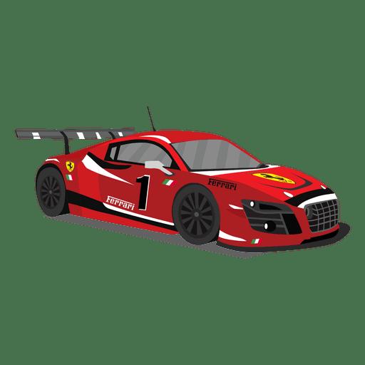 Ilustración de coche de carreras rojo Transparent PNG