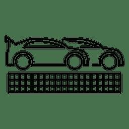 Rennwagen-Umriss
