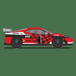 Carrera de coches de carreras de ferrari