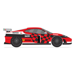 Corrida de carros de corrida da Ferrari