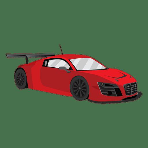 Race car racing illustration