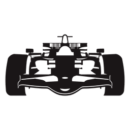 Formula one racing car silhouette