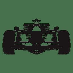 Silueta de coche de carreras de fórmula uno