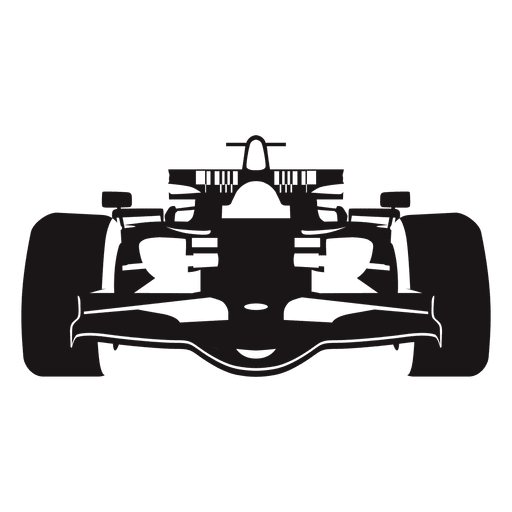 Formula one racing car silhouette