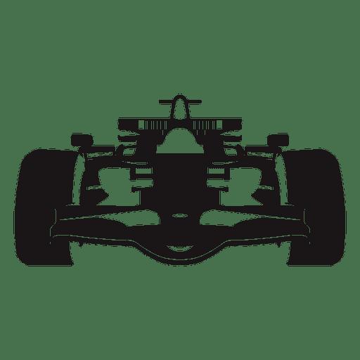 Silueta de coche de carreras de f?rmula uno