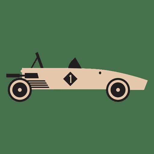 Flat race car racing Transparent PNG