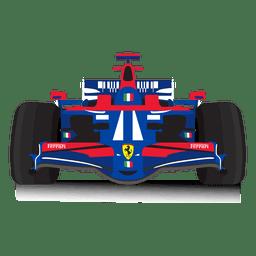 Ilustración del coche de carreras
