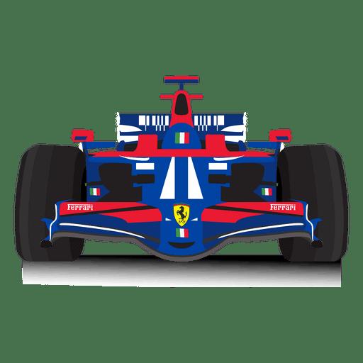 Ilustración del coche de carreras Transparent PNG