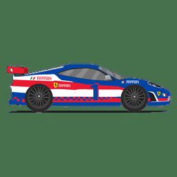 Vista lateral de las carreras de autos de carrera.