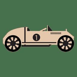 Vintage race car racing