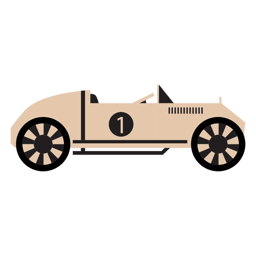Old style race car racing Transparent PNG