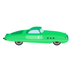 Retro green race car