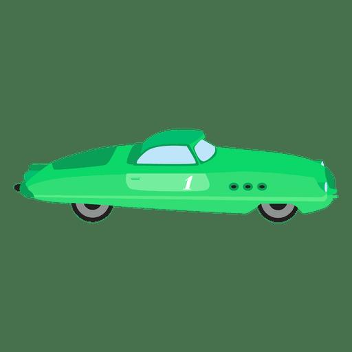 Retro green race car Transparent PNG