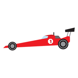 Formula One racing car cartoon