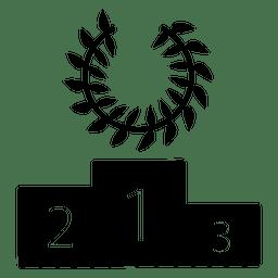 Silhueta de vencedor de pódio de corrida