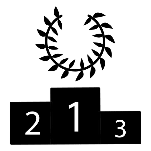 Racing podium winner silhouette Transparent PNG