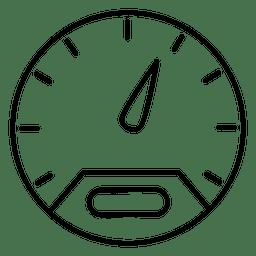 Ícone de traçado de corridas de carro de velocidade