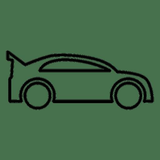 Racing Car Outline Transparent PNG