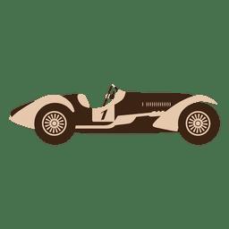 Carrera de coches de carreras de velocidad vintage