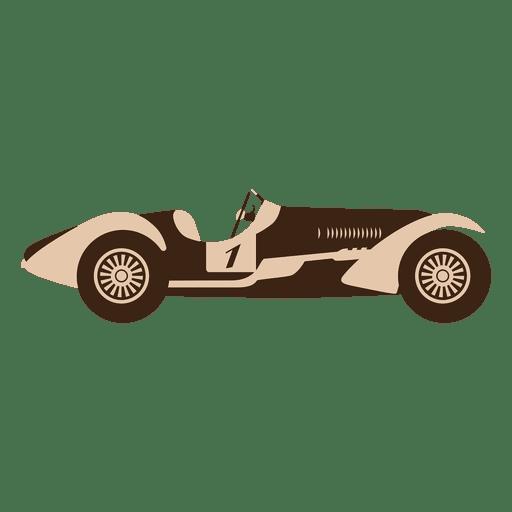 Vintage speed race car racing Transparent PNG