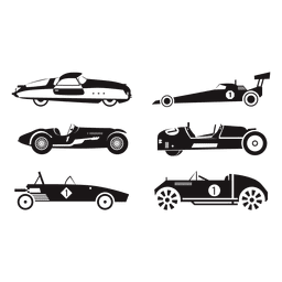 Speed race car racing illustration set