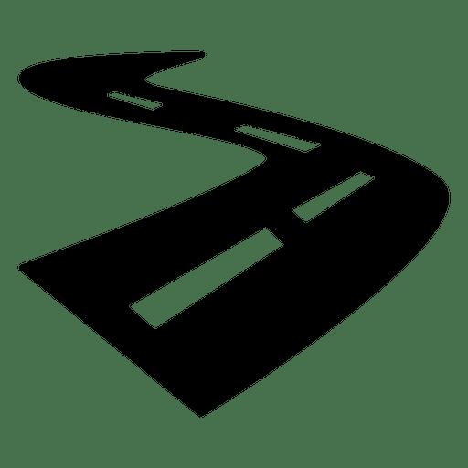 Icono de carretera calle curva