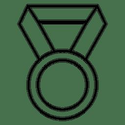 Ícone de vencedor de campeonato medalha de troféu