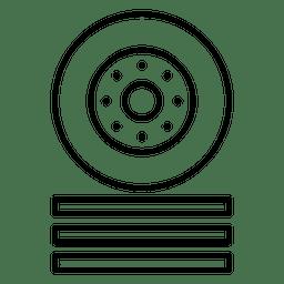 Rad Autorennen Symbol