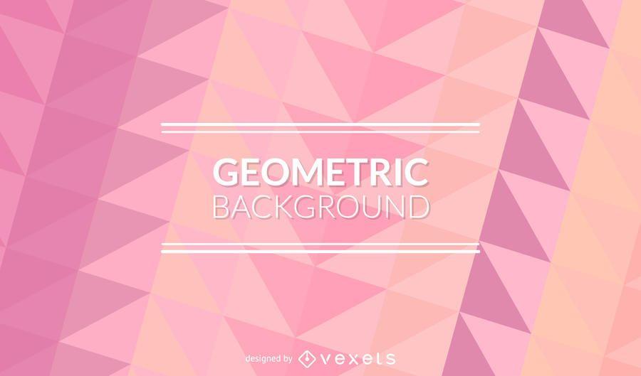 Pastel pink polygonal background