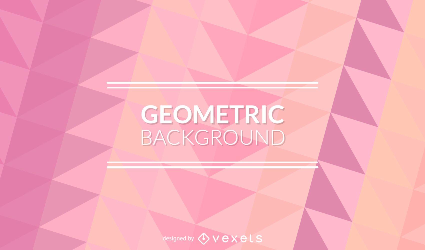 Pastel de fondo de color rosa poligonal - Descargar vector