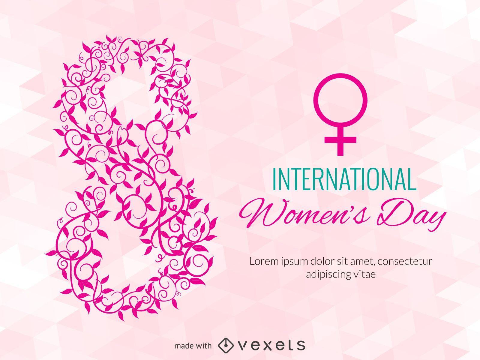 Fabricante de cartazes para o Dia da Mulher