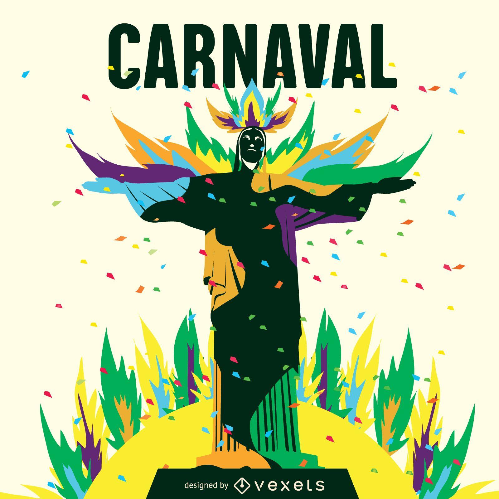 Ilustracion De Carnaval De Rio