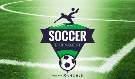 Fútbol fabricante de la etiqueta logo