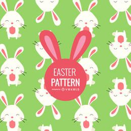 Flat Easter bunnies pattern