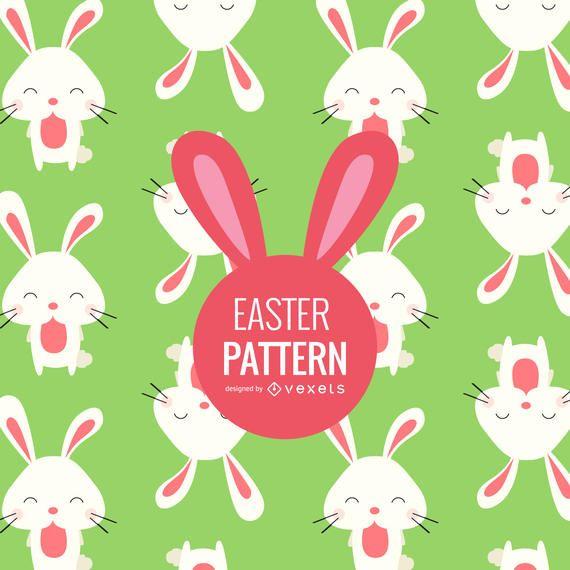 Flat Easter bunnies pattern