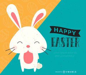 Cartel de feliz Pascua ilustrado