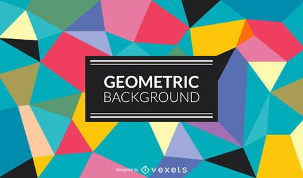 Polygonal background in colorful tones
