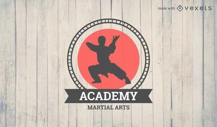 Crachá de logotipo de artes marciais