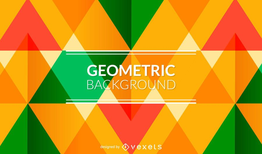 Bright geometric background