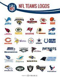 NFL logotipos de los equipos paquete