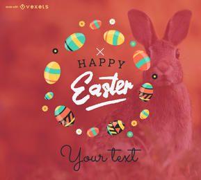Feliz fabricante de carteles de Pascua