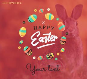 Happy Easter poster maker