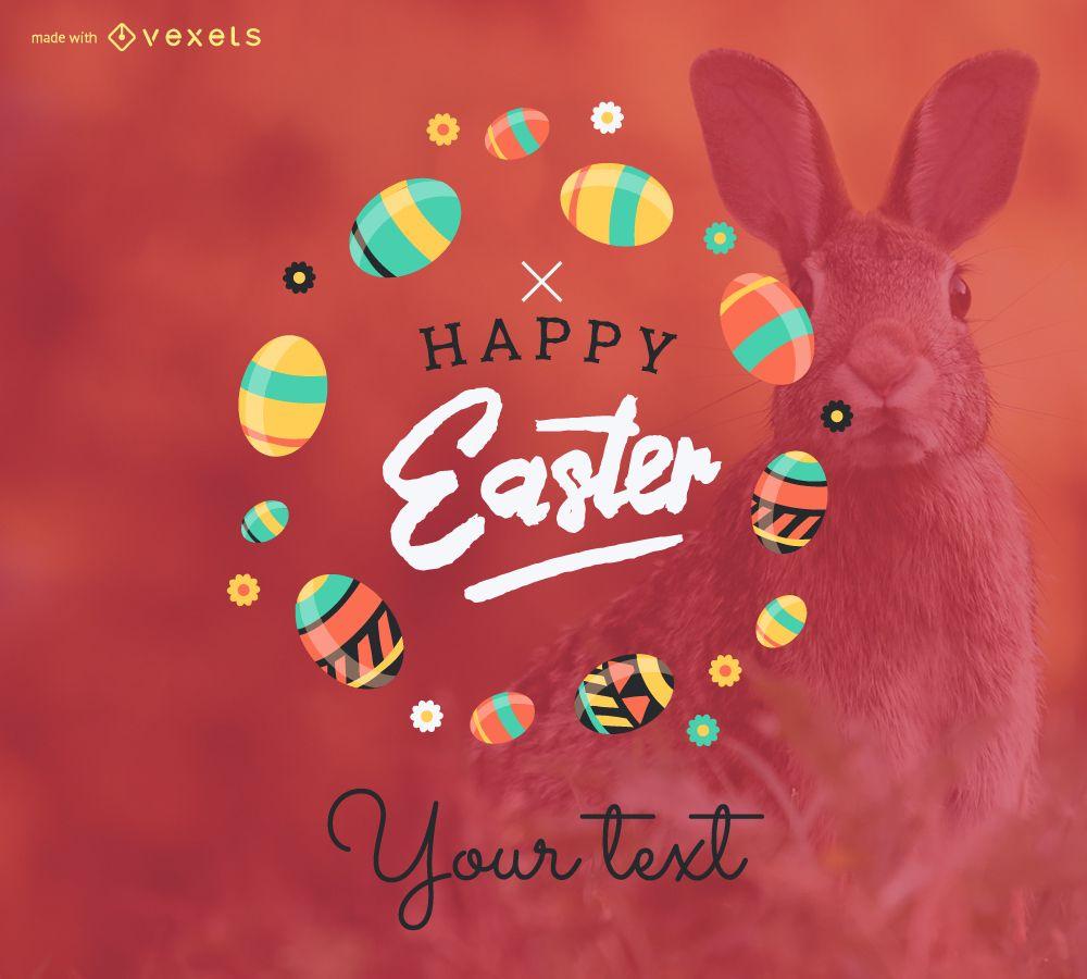 Happy Easter poster maker