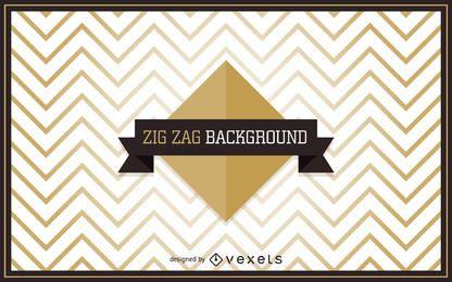 fondo de zig-zag de oro